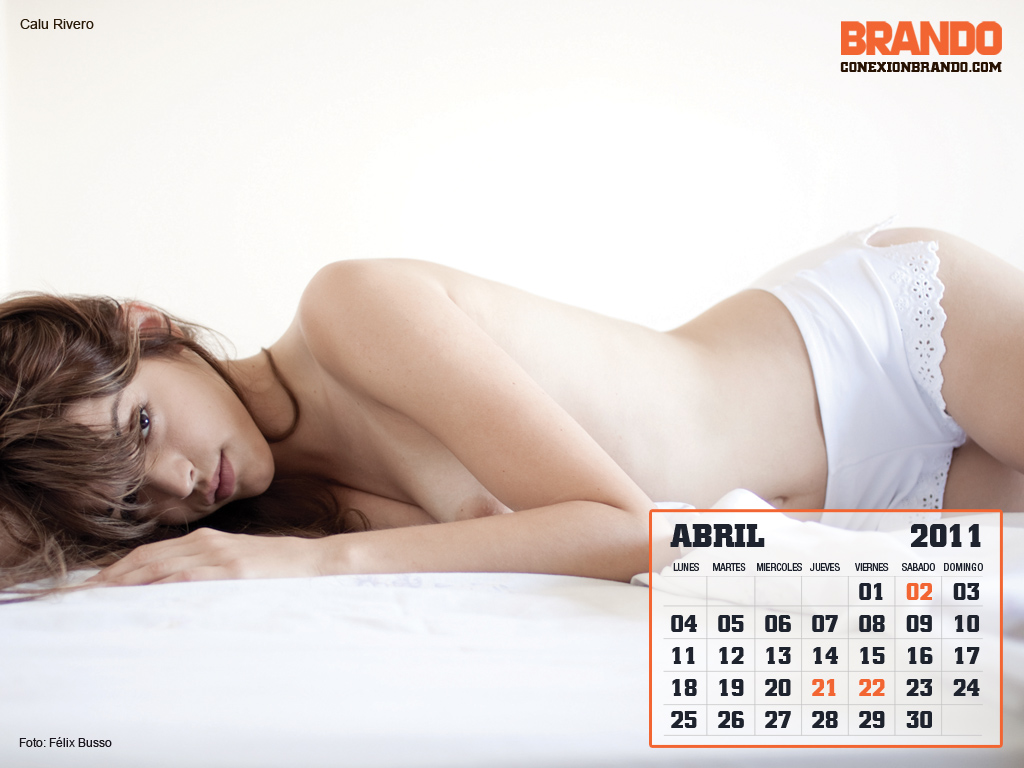 Chica hot de calendario- Abril Calu Rivero