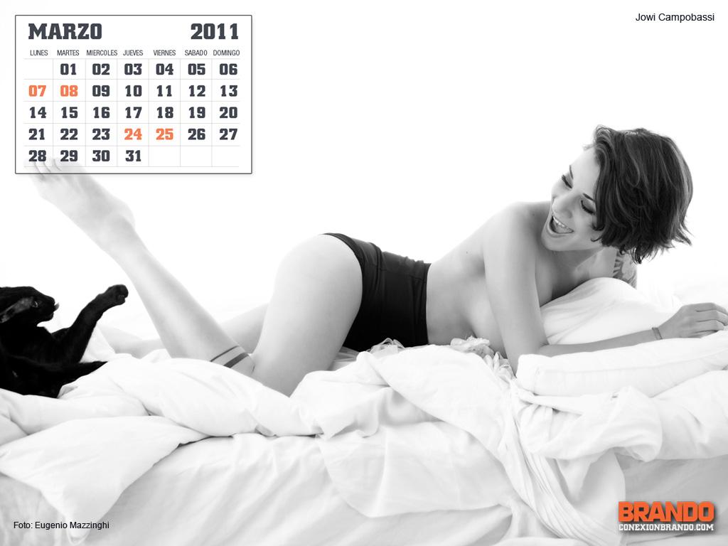 Chica hot de calendario- Marzo Jowi Campobassi